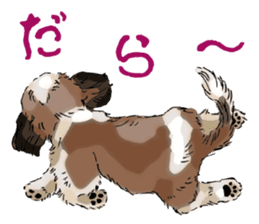 Yorkshire Terrier and Shih Tzu sticker #11313392