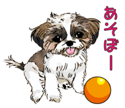 Yorkshire Terrier and Shih Tzu sticker #11313394