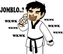 taekwondo boy 1 sticker #11317140