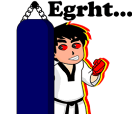 taekwondo boy 1 sticker #11317142