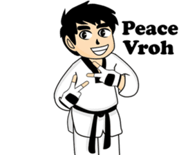 taekwondo boy 1 sticker #11317143