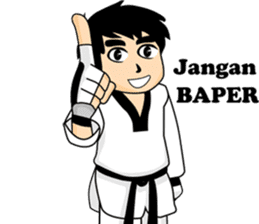 taekwondo boy 1 sticker #11317149