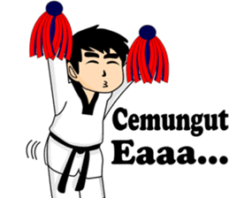 taekwondo boy 1 sticker #11317152