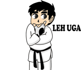taekwondo boy 1 sticker #11317159