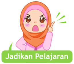 Fatima : Diary of Hijabers sticker #11320331