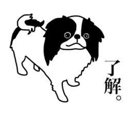 I love Japanese Chin sticker #11320458