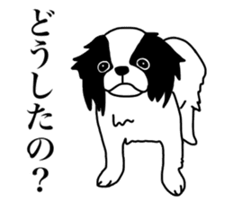 I love Japanese Chin sticker #11320474