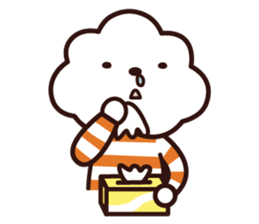 FLUFFY HOUSE (Mr. White Cloud & Friends) sticker #11327633
