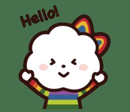 FLUFFY HOUSE (Mr. White Cloud & Friends) sticker #11327639