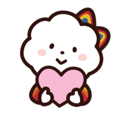 FLUFFY HOUSE (Mr. White Cloud & Friends) sticker #11327644