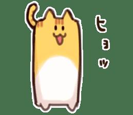 CUBE CAT BROWN TABBY sticker #11337323