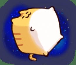 CUBE CAT BROWN TABBY sticker #11337327
