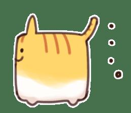 CUBE CAT BROWN TABBY sticker #11337328