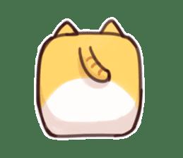 CUBE CAT BROWN TABBY sticker #11337333