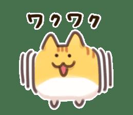 CUBE CAT BROWN TABBY sticker #11337341