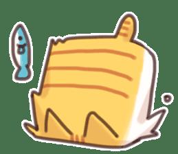 CUBE CAT BROWN TABBY sticker #11337345