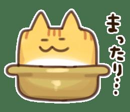 CUBE CAT BROWN TABBY sticker #11337349