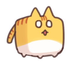 CUBE CAT BROWN TABBY sticker #11337351