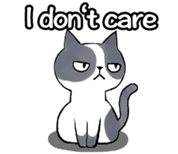 Cat rule the world(english) sticker #11346116