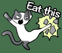 Cat rule the world(english) sticker #11346124