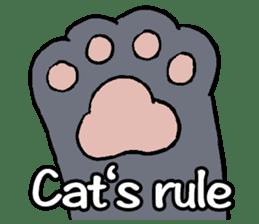 Cat rule the world(english) sticker #11346135