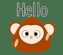 Triangle monkey with friends (English) sticker #11355617