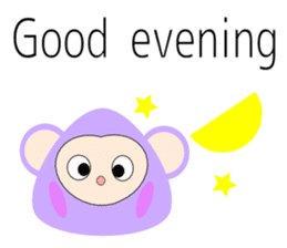 Triangle monkey with friends (English) sticker #11355618