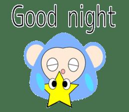 Triangle monkey with friends (English) sticker #11355619