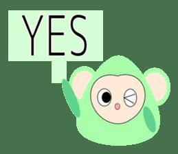 Triangle monkey with friends (English) sticker #11355620