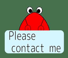 Triangle monkey with friends (English) sticker #11355636