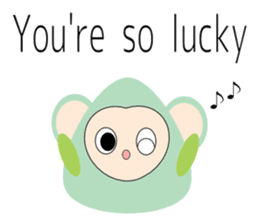 Triangle monkey with friends (English) sticker #11355641