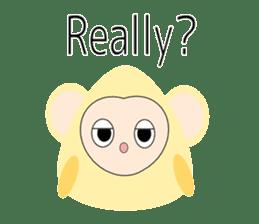 Triangle monkey with friends (English) sticker #11355647