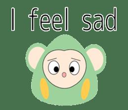 Triangle monkey with friends (English) sticker #11355653