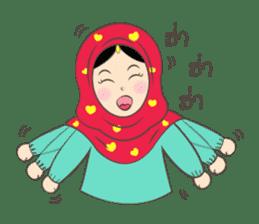 New Leena love hijab Funny Cutie sticker #11378747
