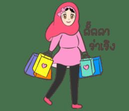 New Leena love hijab Funny Cutie sticker #11378749
