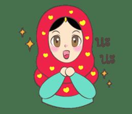 New Leena love hijab Funny Cutie sticker #11378753