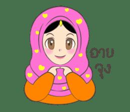 New Leena love hijab Funny Cutie sticker #11378756