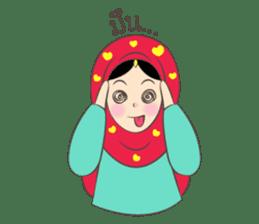 New Leena love hijab Funny Cutie sticker #11378763