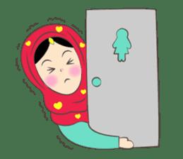New Leena love hijab Funny Cutie sticker #11378769