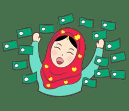 New Leena love hijab Funny Cutie sticker #11378779