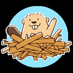 Funny , cute , beaver