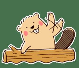 Funny , cute , beaver sticker #11397908