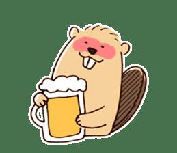 Funny , cute , beaver sticker #11397909