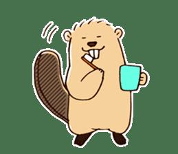 Funny , cute , beaver sticker #11397910