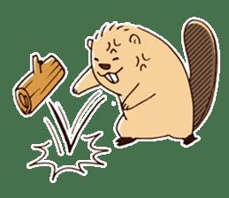 Funny , cute , beaver sticker #11397911