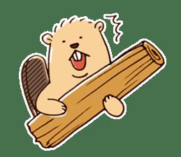 Funny , cute , beaver sticker #11397912
