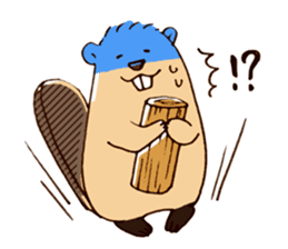 Funny , cute , beaver sticker #11397920