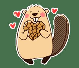 Funny , cute , beaver sticker #11397921