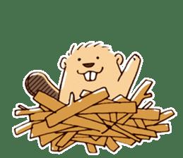 Funny , cute , beaver sticker #11397923