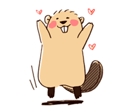 Funny , cute , beaver sticker #11397924